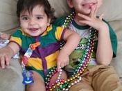 Alex & Lucas celebrate Mardi Gras!