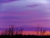 sunset clouds, 2-14-2018