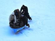 Ice canoe.