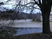 Chartiers Creek flooding in Bridgeville this morning by Bursca Office Park.