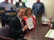 NC Congressman Ted Budd at the Davie County Board of Elections Office