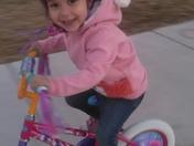 Lyla's first bike!