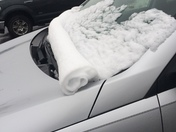This is my car around 5pm today after the snow.I never seen this before.