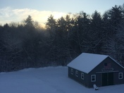 Morning Sunrise with new snow