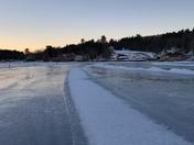 Alton Bay Ice Runway.