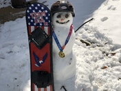 Olympic snowman
