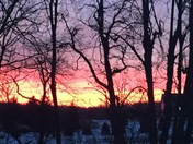 Beautiful sunset in Colgate today!
