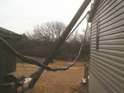 Wind damage in Wewoka