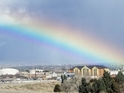 Rainbow this afternoon