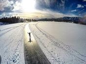 Ice Skating Sky Scene