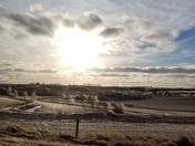 Icy sun setting beauty