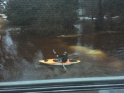 Kayaking in our yard in Lake Geneva this afternoon.