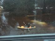 Kayaking in our yard in Lake Geneva this afternoon.