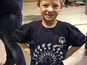 Christian with his 1st place ribbon