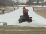 Garrett, a student at OCCC, enjoying the weather out in Tuttle.
