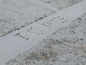 I love katie on snowy day