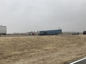 4 semis jackknifed just east of Canute