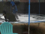 We are in Moore and our boys wanted to play in the sleet on the trampoline.