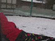 Icy trampoline fun