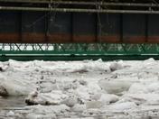 Plattsburgh walk bridge and apartment by bridge
