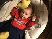 Almost 4 months old and I love the Patriots