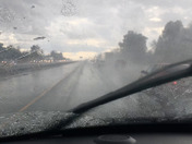 Hail/rain on 80 west near CItrus Heights 3:35 pm