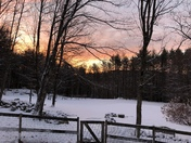 Morning sunrise, New London NH