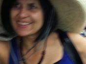 Having fun trying on hats