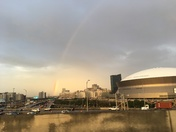 Rainbow over neworleans.