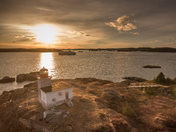 Pea Point Lighthouse In Blacks Harbour N.B