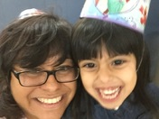 This is my granddaughter's 5th birthday.  We both have beautiful SMILES!!
