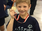 Christian with Gold medal