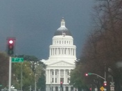 Hail atop the Capitol Dome
