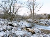 After the flood: ice sheets on banks of the Humber River