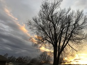 Beautiful sunset in Norman OK