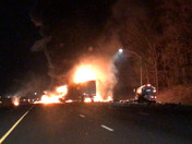 Tracker trailer hits gas tanker on 695 ext 18a