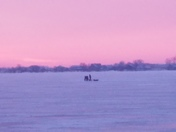 Beautiful morning on Blackhawk Lake in lake view Iowa!