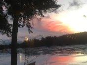 Pillsbury Lake sunset, Webster, NH