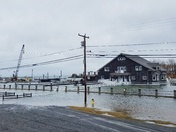 River Club on Ocean Ave. at high tide