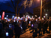 Inaugural Moon Glow community lantern parade in Lyndonville, VT