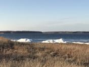 Photos of icebergs on Lake Rathbun. Beautiful day!!