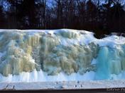 Frozen Ice over rocks