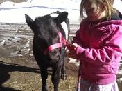 Me and my calf  sprinkle