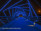 Full moon and High Trestle Trail