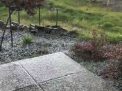 Massive hail storm in Fairfield
