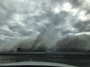 Storm Riley, Hampton Beach, NH Noon at High Tide March 3, 2018