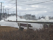 One short clip of the waves crashing over the sea wall down in Wells and the other video of the waves at Colony/Arundel Beach in Kennebunkpor
