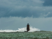 Whaleback Lighthouse Standing Up To The Storm