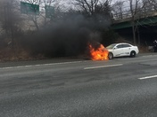 Car fire 128 south just past route 20.