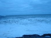 Waves at high tide on Sat at Twolights